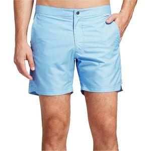 IBIZA Ocean Club Blue White Gingham Swim Trunks